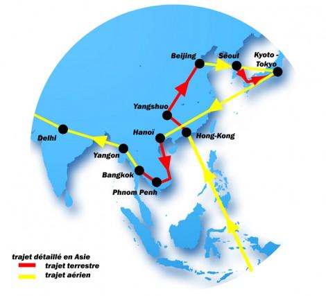 Le parcours définitif en Asie