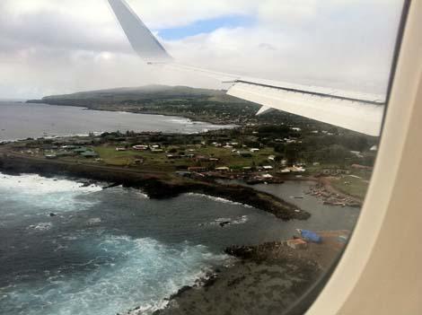 l'Ile de Paques par avion 1