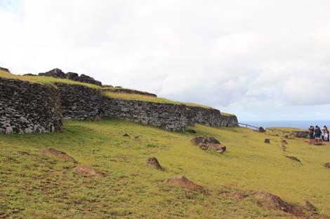 Maisons du village d'Orongo