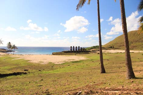 Anakena la plage les moais