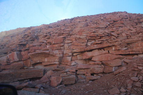 pierres dans ravin