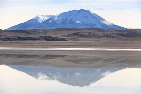 lac et reflet montagne