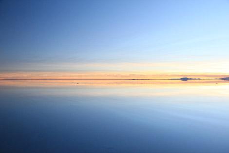 Uyuni sunrise bleu