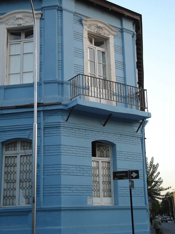 Santiago maison bleue