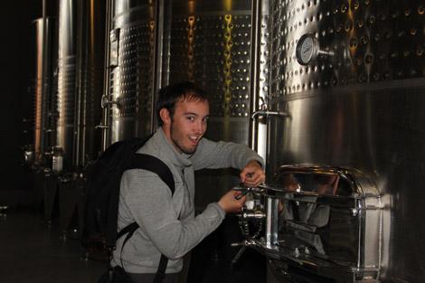 Fabien cuve a fermentation