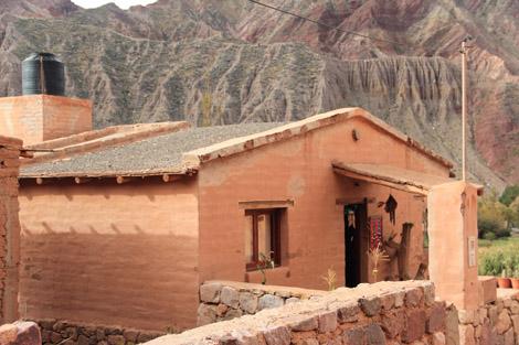 Humahuaca maison recouverte de crépit