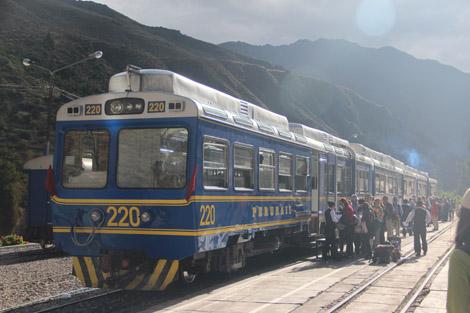 Le train PeruRail Ollanta-Agua Callientes