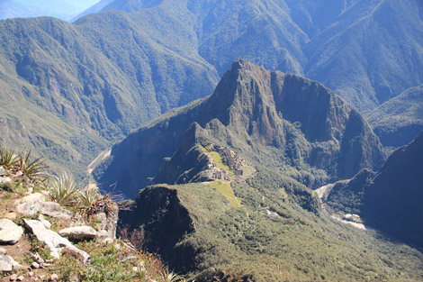 La vue depuis le haut de la montagne