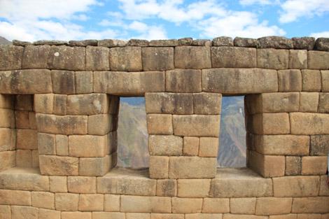 Détails de fenêtres de temples