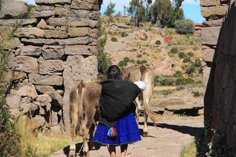 Femme sur Taquile