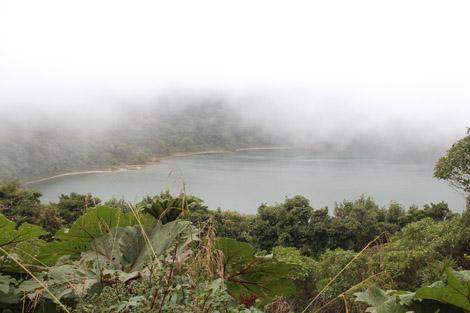 Le lac de l'ancien cratère