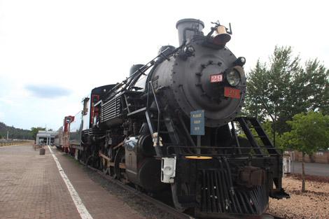 Un vrai train à vapeur!