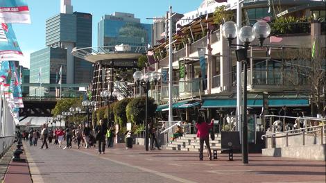 """Promenade sur un """"Pier"""" de Sydney."""