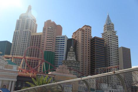 Si, si, c'est un casino-hôtel, le New York New York!