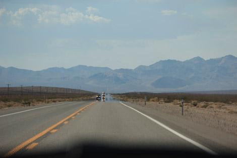 Une route désertique…