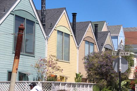 des maisons de Haight St.