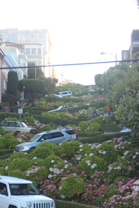 Vue d'en bas de Lombard Street