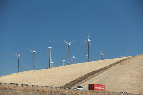 tant d'éoliennes sur la route!