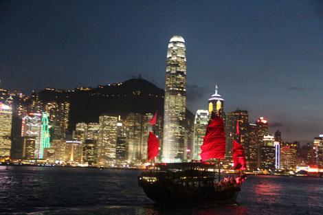 Hong Kong la nuit!