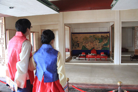 Dans le palais Gyeongbokgung