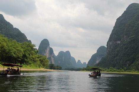 croisière sur la rivière Li Chine