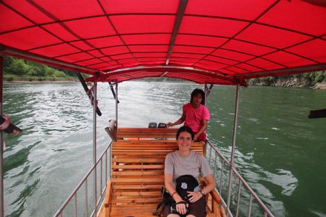 Bamboo boat sur la rivière Li