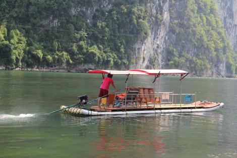 Bamboo boat en Chine
