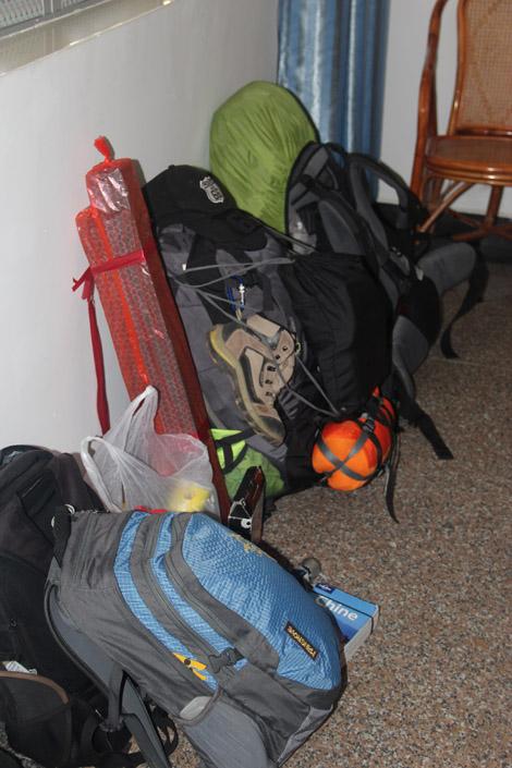 Les sacs à dos de notre tour du monde