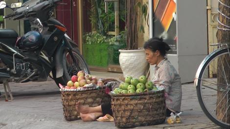 Femme vietnamienne vendant des fruits