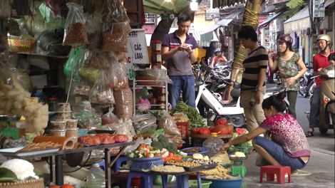 Rue des fruits et légumes de Hanoï