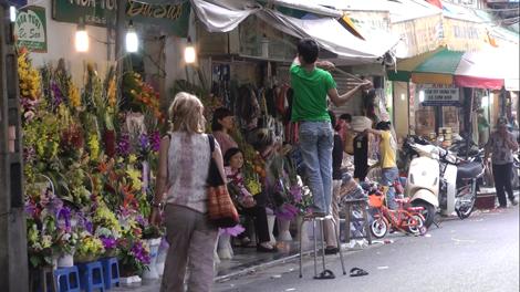 Rue du fleuriste à Hanoï