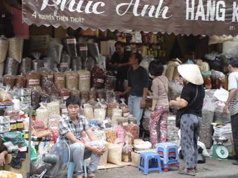 Rue des céréales Hanoï