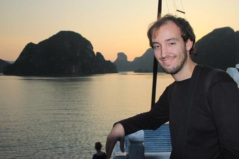 Coucher de soleil sur la baie d'Halong… Avec moi!