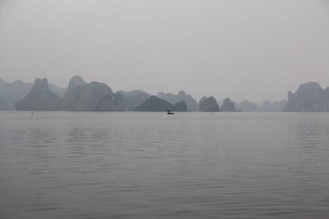 Voici la baie d'Halong