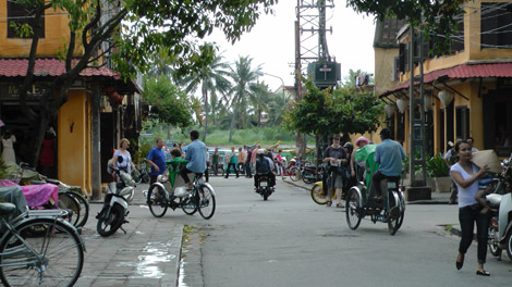 Pas de voiture dans la vieille ville de Hoi An