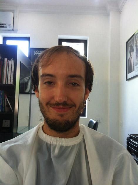 Direction le coiffeur