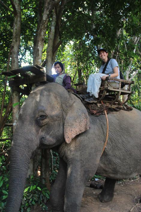 Élodie et l'éléphant!