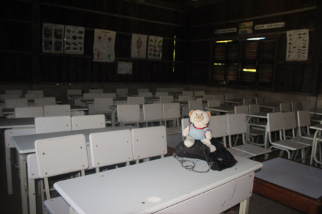 École vide au Cambodge