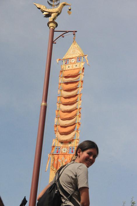 Wat Phnom a l'extérieur