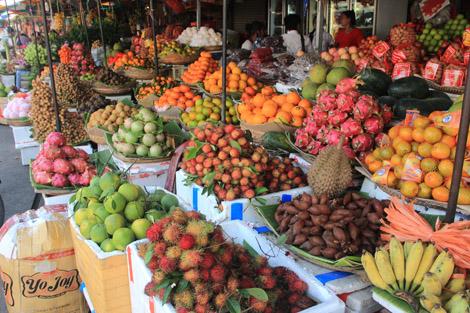 Des étals de fruits qui donnent envie