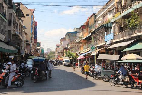 Une rue de Phnom Penh
