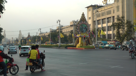 Un des rares scooters de Bangkok