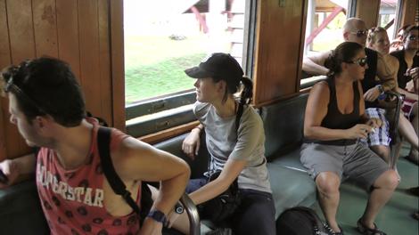 A l'intérieur du vieux train