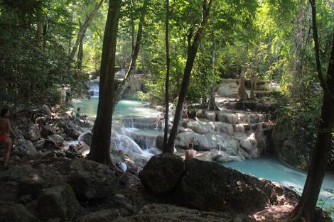 Cinquième niveau des cascades d'Erawan