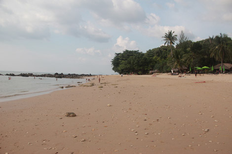 Plage privative du Relax Bay
