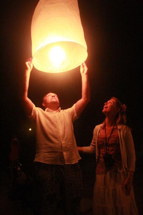 Lampe en papier thaïlandaise