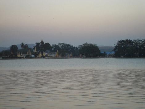 Le lac, vu de notre chambre