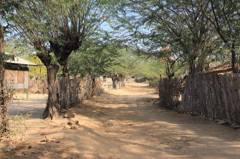 Petit village des plaines de Bagan