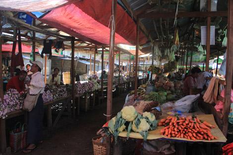 Le marché de Nyaung Shwe