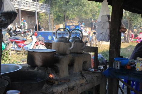 Une bouilloire au coin du feu